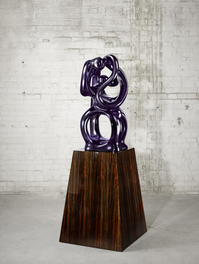 Anselm Reyle, Eternity, bronze, chrome optics, plinth with macassar wood veneera, 2011, 100 x 49 x 53 cm
