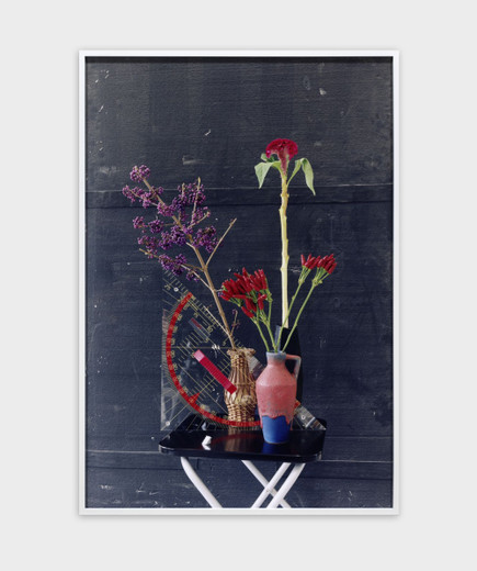 Annette Kelm, Set Square and Flowers, c-print, framed, 2016, 95 x 65 cm, 6 + 2 AP