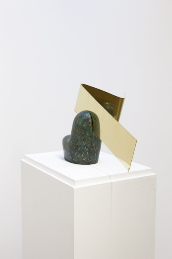 """<span class=""""artists work-caption"""">Camille Henrot</span><span class=""""title work-caption"""">Stealing Part of the Placenta</span><span class=""""technique work-caption"""">bronze, brass</span><span class=""""year work-caption"""">2013</span><span class=""""dimensions work-caption"""">27 x 39 x 26 cm</span><span class=""""edition work-caption"""">5/8 + 4AP</span>"""