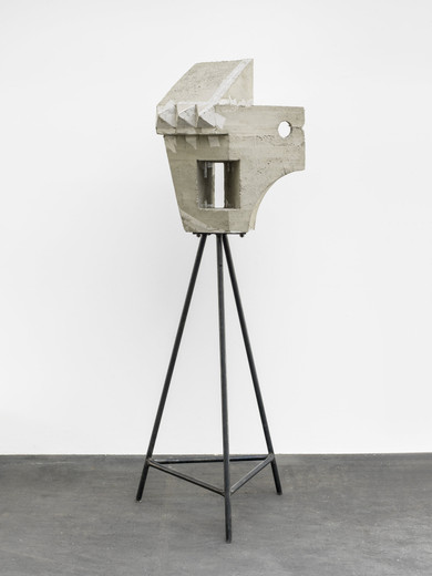 "<span class=""artists work-caption"">Michael Sailstorfer</span><span class=""title work-caption"">Kopf und Körper</span><span class=""technique work-caption"">casted conrete, steel construction</span><span class=""year work-caption"">2015</span><span class=""dimensions work-caption"">Concrete:  HxBxT: 77x55x46  Crate:  88xx63x60</span><span class=""edition work-caption"">unique</span>"
