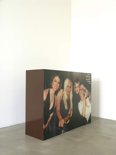 , Ratpack, color copy, lacquer on wood, 2002, 135 x 100 x 40 cm, unique