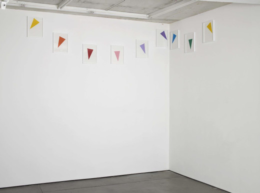 Amalia Pica, Corner Reconfiguration #2, installation with framed collages ( frame, paper, glue ), 2015, unique