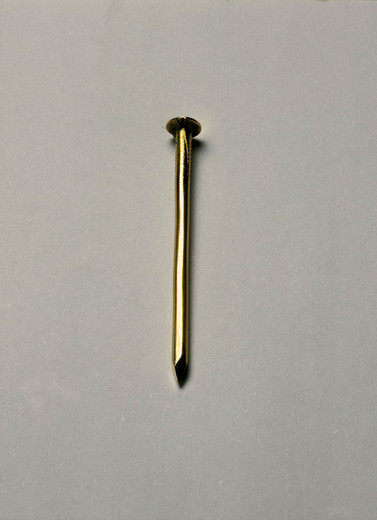 Kris Martin, Golden Spike, solid golden nail (18 Candida Tropicalis), 2005, h = 4.8 cm, 17/20