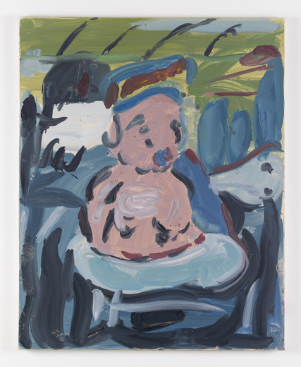 Kate Groobey, Tub man, oil on canvas, 2014, 150 x 120 cm, unique