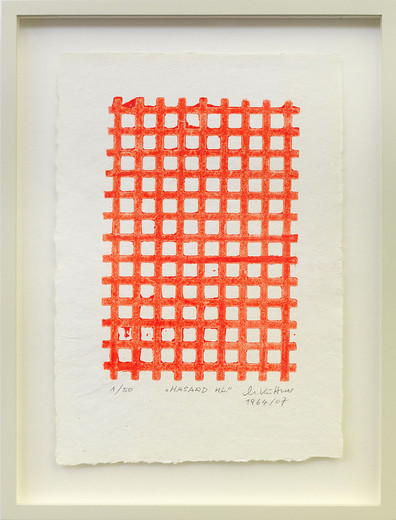 "<span class=""artists work-caption"">Manfred Kuttner</span><span class=""title work-caption"">Hasard H.L.</span><span class=""technique work-caption"">linolcut, fluorescent paint, framed</span><span class=""year work-caption"">1964 - 2007</span><span class=""dimensions work-caption"">30 x 21 cm</span><span class=""edition work-caption"">1/50</span>"