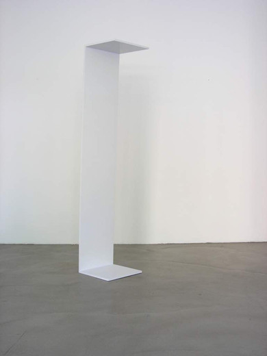 Michaela Meise, Also, block board, acrylic,  synthetic resin lacquer, 2004, 222 x 44 x 44 cm, unique