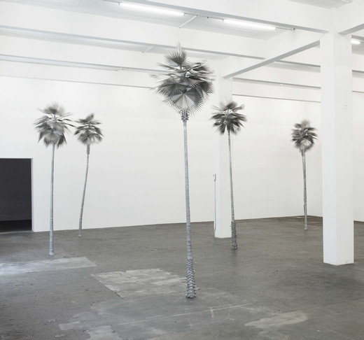 David Zink Yi, Neusilber (New Silver), aluminium, stainless steel, five parts, 2008 - 2010, h = 350.01 cm, unique
