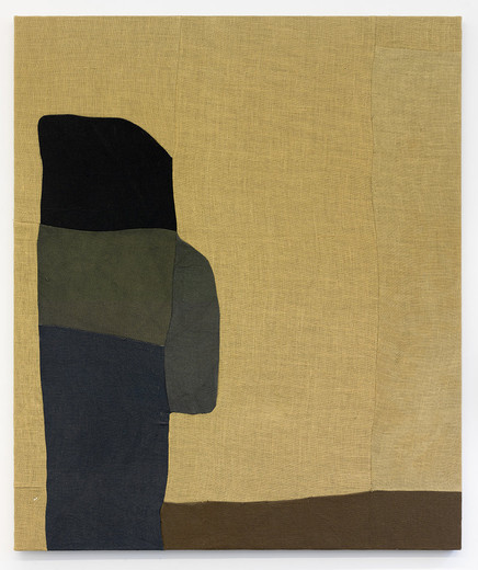 Sergej Jensen, The last hang man, burlap, dyed linen, 2006, 185.2 x 155.2 cm, unique