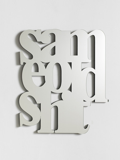 Monica Bonvicini, Same Old Shit, mirror, MDF, 2018, 90 x 80 x 2.60 cm