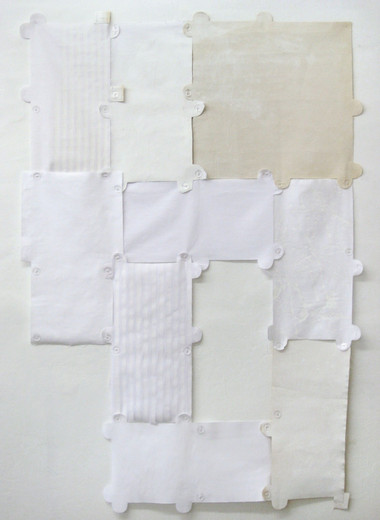 Alexander Wolff, Détournement, cotton, nubs, canvas, 2008, 150 x 105 cm