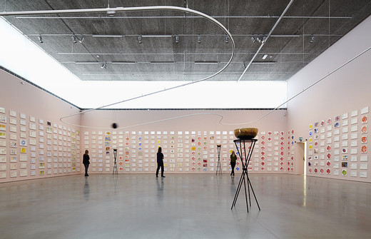 "<span class=""artists work-caption"">Jeppe Hein</span><span class=""title work-caption"">Path of Frequencies</span><span class=""technique work-caption"">singing bowls, pedestals, powder coated steel tracks, rope, balls, carrier, electric motor, chain drive, sensors</span><span class=""year work-caption"">2013</span><span class=""dimensions work-caption"">Circuit variable (approx. 175 meters long, 15 singing bowls)</span><span class=""edition work-caption"">2/3 + 2AP</span>"