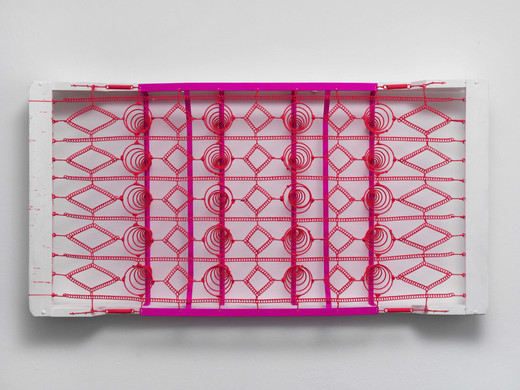 Manfred Kuttner, Matratze, metal, wood, fluorescent paint, 1962, 94 x 182 x 18.5 cm, unique
