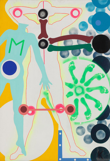 Kiki Kogelnik, M, oil and acrylic on canvas, c. 1964, 203 x 142.7 cm, unique