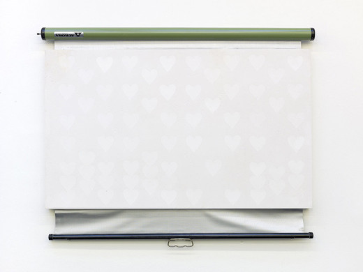 Lisa Lapinski, Untitled (ref screen 7), plaster, projection screen, 2013, 110 x 85 x 5.5 cm, unique