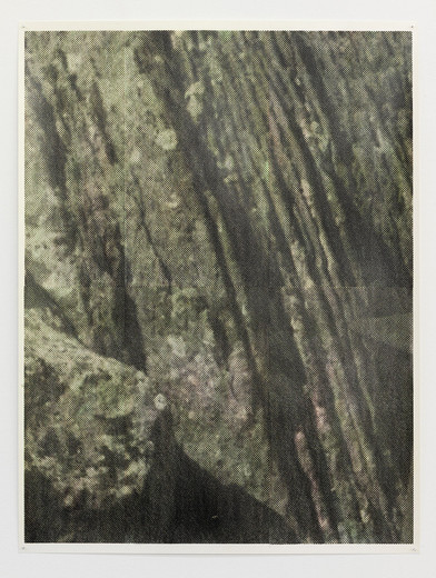 Justin Matherly, Untitled, inkjet monoprint sprayed with UV clear gloss protection, 2013, 96 x 71.5 cm, unique