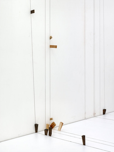 Tatiana Trouvé, Prepared Space, bronze, wood, 2014, dimensions variable, unique
