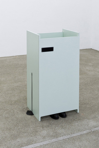 "<span class=""artists work-caption"">Tatiana Trouvé</span><span class=""title work-caption"">Untitled (ref: cabin)</span><span class=""technique work-caption"">wood, formica, leather, metal</span><span class=""year work-caption"">2007</span><span class=""dimensions work-caption"">100 x 43 x 53 cm</span><span class=""edition work-caption"">unique</span>"