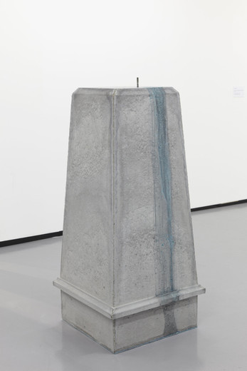 Amalia Pica, Number 1 (Heroes on the Run), concrete, metal, bronze sulphate, 2012, 135 x 60 x 60 cm, 3/3