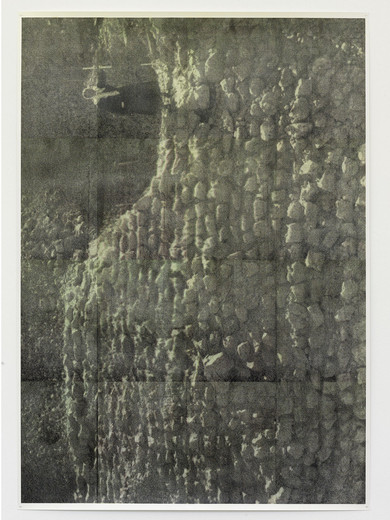Justin Matherly, Untitled (t.g.), inkjet monoprint sprayed with UV clear gloss protection, 2013, 157.5 x 111 cm, unique