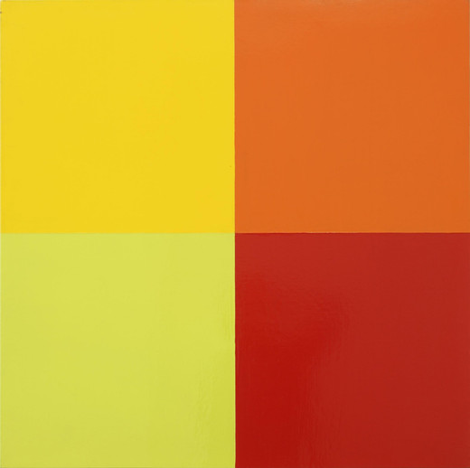 Poul Gernes, Untitled, lacquer on masonite board, 1968 - 1970, 90 x 90 cm