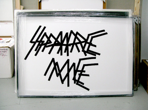 Matias Faldbakken, Untitled, insulation tape on paper, 2008