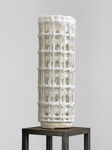 Michel Francois, Model 8, plaster, 2006, 68 x 22 x 22 cm, unique