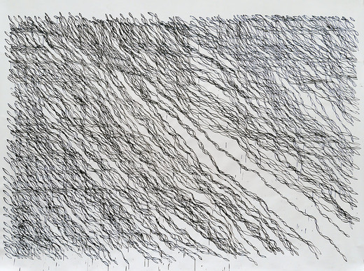 Monica Bonvicini, Off the Grid (No 1), tempera on paper, acrylic glass panels, screws, 2012, 271 x 352 cm