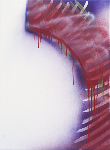 Katharina Grosse, o.T., acrylic on canvas, 2009, 105 x 76 cm, unique