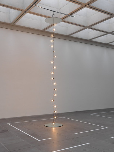 "<span class=""artists work-caption"">Jeppe Hein</span><span class=""title work-caption"">Mirrors and Light</span><span class=""technique work-caption"">mirror, aluminium, light bulb, cable</span><span class=""year work-caption"">2009 - 2010</span><span class=""dimensions work-caption"">h = 350,  Ø 100 cm</span><span class=""edition work-caption"">AP II/II (3)</span>"