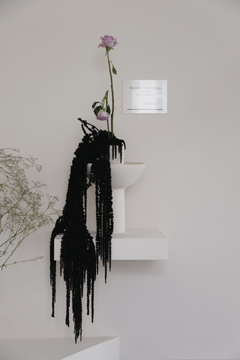 Camille Henrot, The Death Of Empedocles, Friedrich Hölderlin, ikebana, 2014, dimensions variable, unique