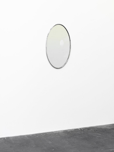 Alicja Kwade, Anwesenheit in Abwesenheit, mirror, cooling unit, heat exchanger, 2015, 82 x 51 x 7 cm, unique