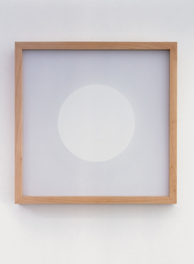 Jeppe Hein, Rotating Square, paper, wooden frame,electric motor, 2005, 21 x 21 cm, 1/5 + 2 AP
