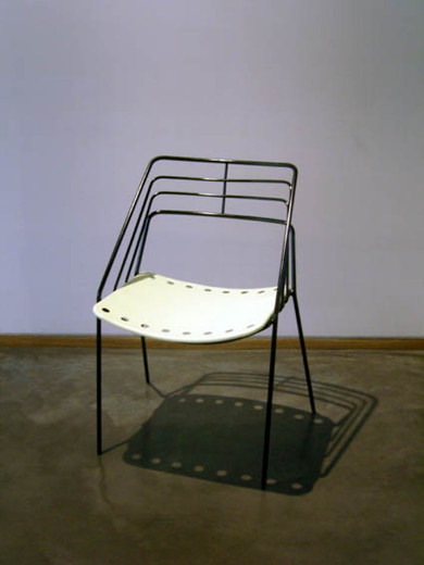 "Mathieu Matégot, ""Kyoto"""" chair"", perforated steel, 1954, 77 x 45 x 55 cm"