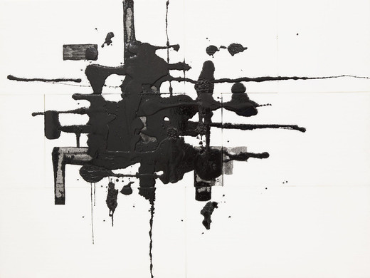 Thilo Heinzmann, o.T., colour pigment and epoxy resin on styrofoam, 1999, 150 x 200 cm