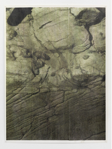 Justin Matherly, Untitled, inkjet monoprint sprayed with UV clear gloss protection, 2013, 96 x 71 cm, unique