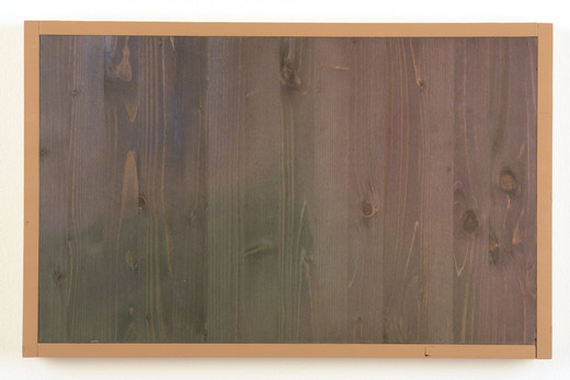 , Colour, wood, acrylic paint, wax, synthetic resin lacquer, 2006, 38.5 x 60.5 x 4 cm