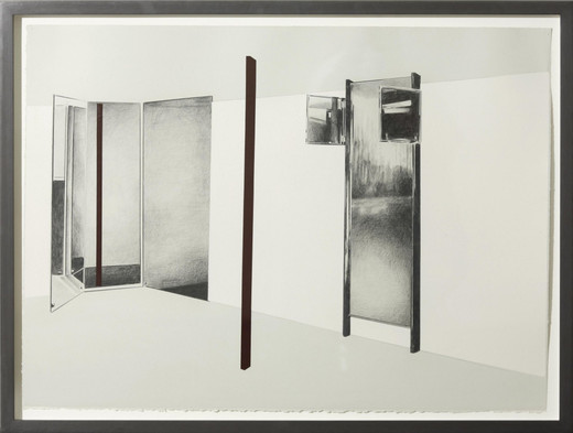 Tatiana Trouvé, Untitled, from the series Intranquillity (Ref: #22), pencilon paper, plastic, 2008, 57 x 76.5 cm