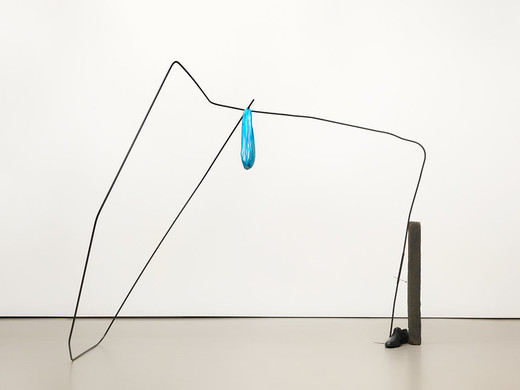 Tatiana Trouvé, Wander Lines, fabric, bronze, metal, 2016, 166 x 226 x 155 cm, unique