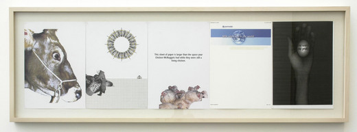 Tue Greenfort, One World One Profit, series of 5 collages, 2004, 29 x 21 x 0 cm