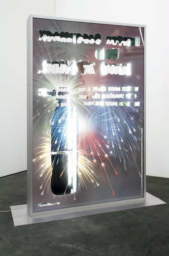 Tue Greenfort, City Light, paper, aluminium, cable,neon tubes, 2007, 177 x 120 x 20 cm, Unique