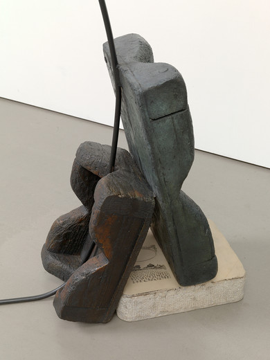 Tatiana Trouvé, Untitled, patinated bronze, metal, 2016, 126 x 158 x 20 cm, unique