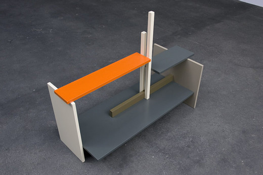 Johannes Wohnseifer, Guineastrasse, wood, lacquer, 2009, 95 x 121 x 53 cm