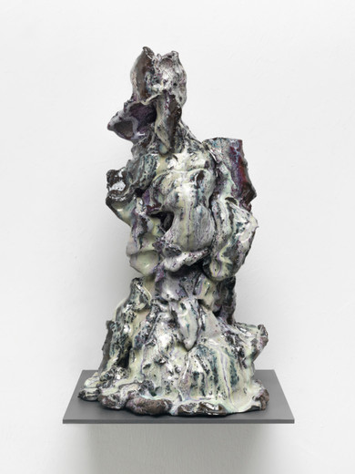 David Zink Yi, Untitled (Waechter 1), ceramic, 2019, 41 x 25 x 22 cm, unique