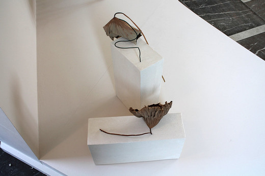 Camille Henrot, The Human Condition, Hannah Arendt, ikebana, 2014, dimensions variable, unique