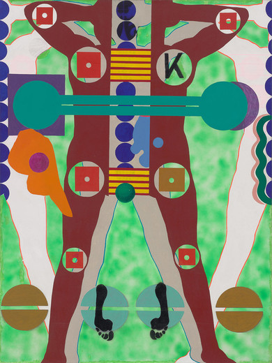 Kiki Kogelnik, Siempre Por Tio, oil and acrylic on canvas, 1964, 193 x 137 cm, unique