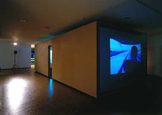 David Zink Yi, Independencia I, 16 mm film transmitted on DVD, two-channel video installation, sound, 2003 - 2004, 2,830 x 10,000 x 3,696 cm, AP II/II (5)
