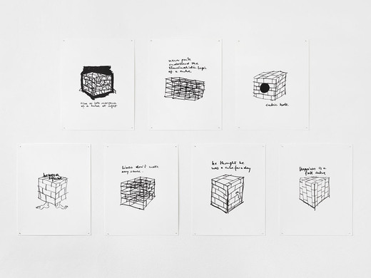 Monica Bonvicini, Cubes, silkscreen  on paper, 7 parts, 2003, 71.5 x 57.5 cm, III/IV (15)