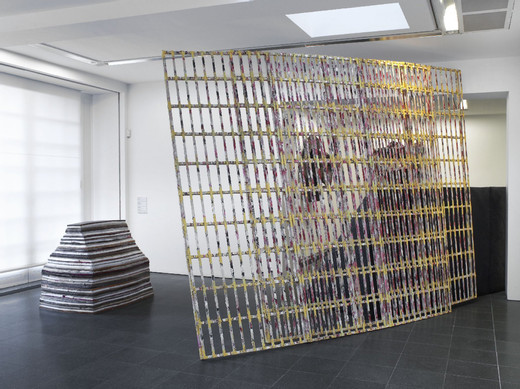 Phyllida Barlow, Untitled: fences, wood, paint, plaster, 2010, 290 x 530 x 170 cm, unique