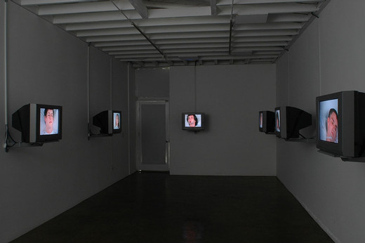 Jeremy Shaw, DMT, 8 channel-video-installation, 2004, 1/3