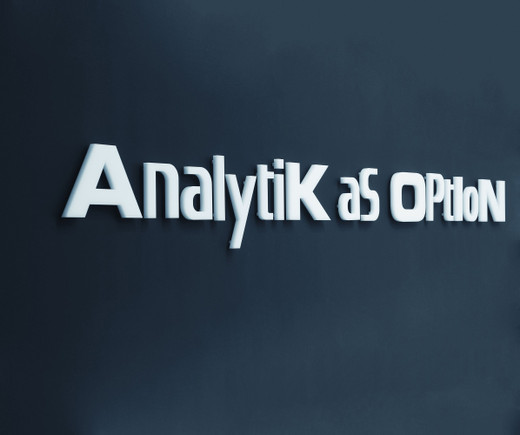 Johannes Wohnseifer, Analytik as Option, Plexiglas letters, 2006, 20 x 280 cm, 3/3 + 1 AP